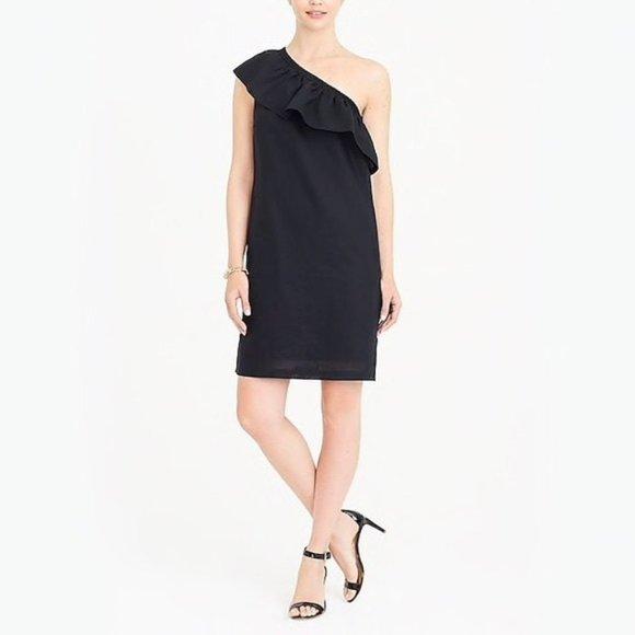 NWT J Crew Factory One Shoulder Linen Shift Dress